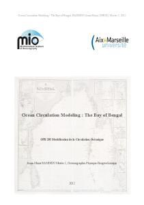 Ocean Circulation Modeling : The Bay of Bengal