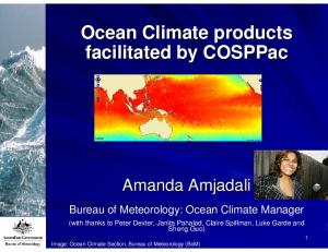 Ocean Climate products facilitated by COSPPac