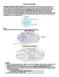 Ocean Current Worksheet