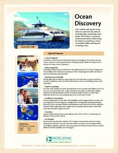 Ocean Discovery. Special Features