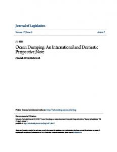 Ocean Dumping: An International and Domestic Perspective;Note