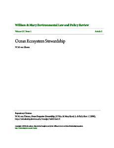 Ocean Ecosystem Stewardship