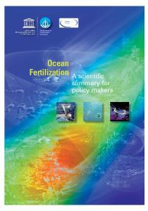 Ocean Fertilization A scientific