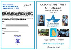OCEAN STARS TRUST Gift Catalogue