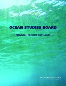 OCEAN STUDIES BOARD BIENNIAL REPORT