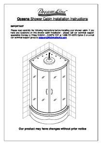 Oceana Shower Cabin Installation Instructions