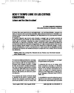 OCIO Y TIEMPO LIBRE EN LOS CENTROS EDUCATIVOS