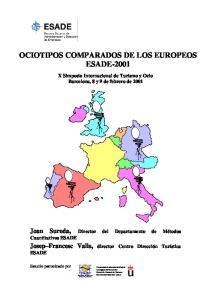 OCIOTIPOS COMPARADOS DE LOS EUROPEOS ESADE-2001
