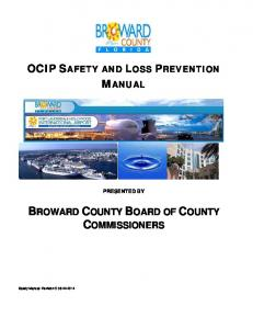 OCIP SAFETY AND LOSS PREVENTION MANUAL PRESENTED BY