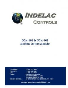 OCM-101 & OCM-102 Modbus Option Module