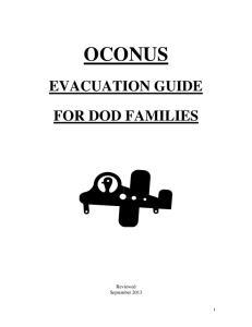 OCONUS EVACUATION GUIDE FOR DOD FAMILIES