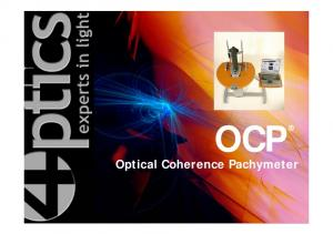 OCP. Optical Coherence Pachymeter
