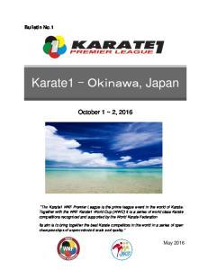 October 1 ~ 2, Bulletin No.1
