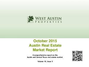 October 2015 Austin Real Estate Market Report