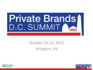 October 22-23, 2015 Arlington, VA