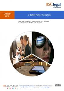 October e-safety Policy Template