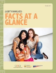 October LgBT FAMILIES: facts at a glance