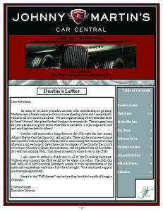 October Newsletter. Hot Rod Month You ll have to stop in and check them out