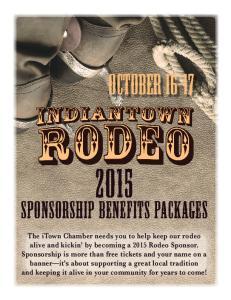 October Sponsorship Benefits Packages