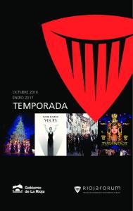 OCTUBRE 2016 ENERO 2017 TEMPORADA