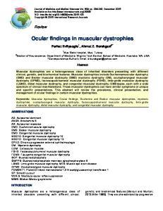 Ocular findings in muscular dystrophies