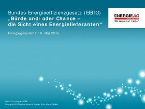 oder Chance die Sicht eines Energielieferanten