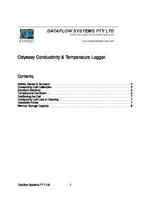 Odyssey Conductivity & Temperature Logger