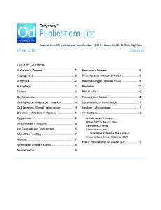Odyssey Publications List