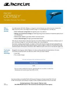 ODYSSEY Variable Annuity Fact Sheet