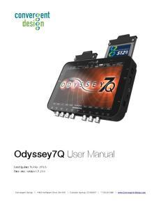 Odyssey7Q User Manual. Last Update: 06-Nov-2013 Firmware: Version