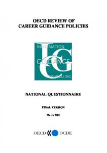 OECD REVIEW OF CAREER GUIDANCE POLICIES