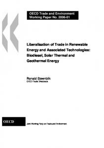 OECD Trade and Environment Working Paper No