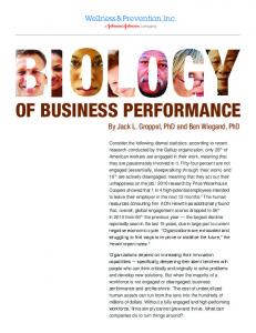 of Business Performance