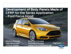of CFRP for the Series Application -Ford
