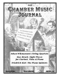 Of Chamber Music. Journal. The