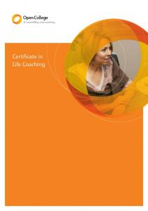 of counselling and coaching Certificate in Life Coaching