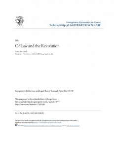 Of Law and the Revolution