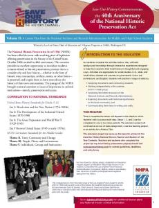 of the National Historic Preservation Act