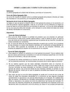OFERTA AGREGADA Y EXPECTATIVAS RACIONALES
