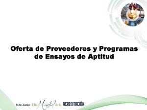 Oferta de Proveedores y Programas de Ensayos de Aptitud