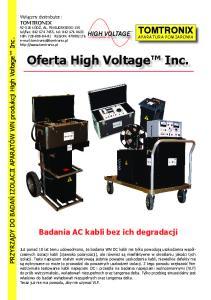 Oferta High Voltage Inc