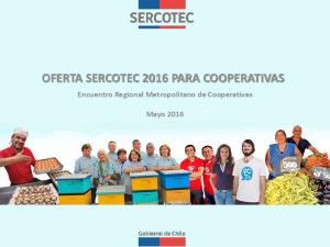 OFERTA SERCOTEC 2016 PARA COOPERATIVAS