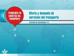 Oferta y demanda de servicios del transporte