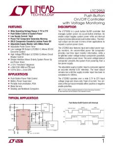 Off Controller with Voltage Monitoring DESCRIPTION FEATURES APPLICATIONS TYPICAL APPLICATION