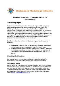Offenes Plenum 27. September 2016
