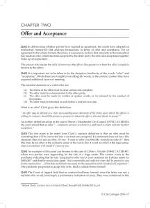 Offer and Acceptance CHAPTER TWO