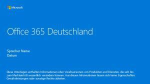 Office 365 Deutschland