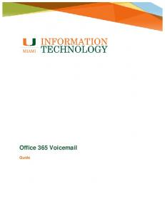 Office 365 Voic . Guide