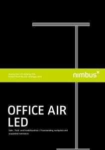 OFFICE AIR LED. Auszug aus LED-Katalog 2014 Extract from the LED catalogue 2014