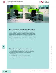 Office Furniture and Equipment Information